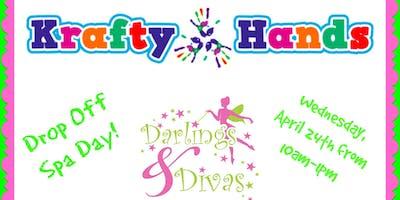 Darlings & Divas Drop Off Spa Day at Krafty Hands