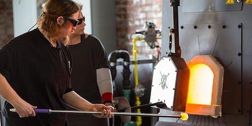 Glassblowing Workshop at ECU GlasStation (Holiday Edition)