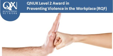 Level 2 Award in Preventing Violence in the Workplace (RQF) tickets