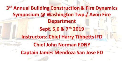 3rd Annual Avon Building Construction & Fire Dynamics Symposium