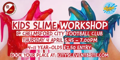 Kids Slime Workshop at Chelmsford City FC