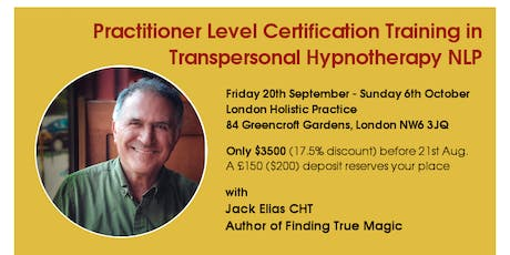 Practitioner Level Certification Training in Transpersonal Hypnotherapy NLP with optional GHR Accreditation tickets
