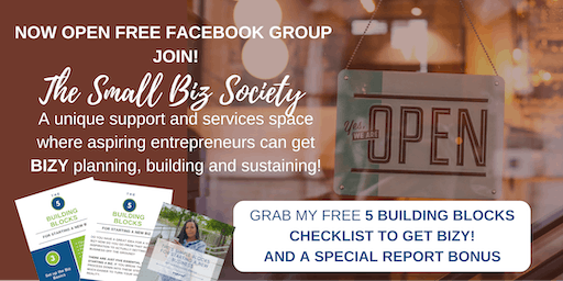 Grand Opening - THE SMALL BIZ SOCIETY ---PRIVATE FREE FACEBOOK GROUP - TX