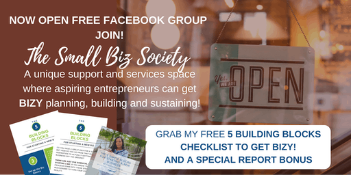 ENTREPRENEURS JOIN THE SMALL BIZ SOCIETY ---PRIVATE FREE FACEBOOK GROUP - NYC
