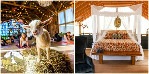 Goat Yoga Class & Overnight Glamping