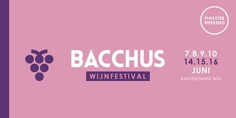 Bacchus Wijnfestival 2019 - zondag 16 juni (vaderdag) tickets