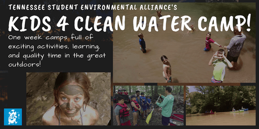 Kids 4 Clean Water Camp (July 15-19; Greenway Farms)