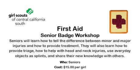 First Aid - Senior Badge Workshop - Fresno County tickets