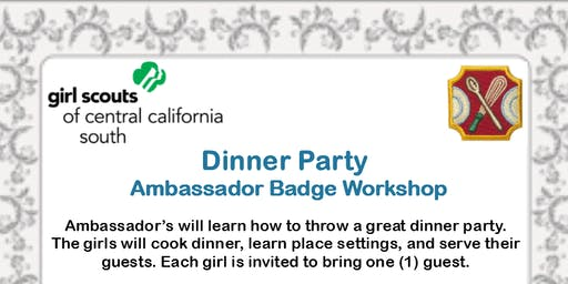 Dinner Party - Ambassador Badge Workshop - Kings County