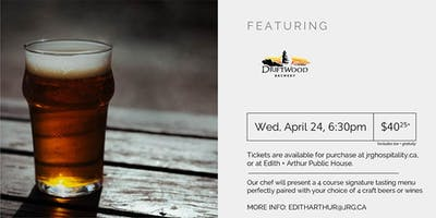 4 Course Driftwood Brewing Pairing Dinner