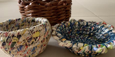 Make a twined & coiled basket from  recycled paper with Mary Elizabeth Barron tickets