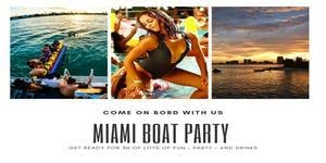 Miami Boat Party with 3 hours Open Bar & water sports