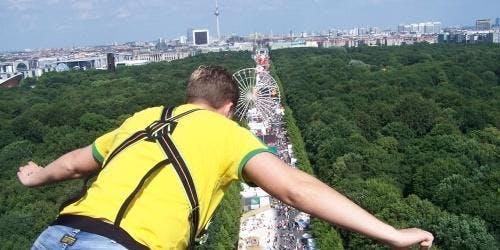 Bungee-Jumping in Berlin, August/September 2019