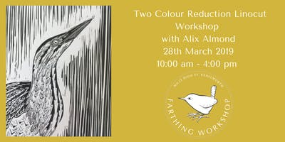 Lino Cutting Printing, Two Colour Reduction Workshop with Alix Almond