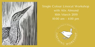 Lino Cutting Printing Single Colour Workshop Alix Almond