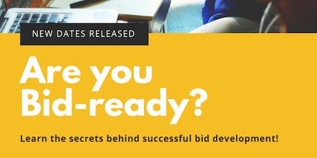 BID DEVELOPMENT - Understanding Funding & The Mindset of Funders (MASTERS) 2019 Series 5 tickets