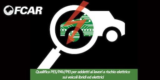 Qualifica PES/PAV/PEI la sicurezza nei veicoli ibridi ed elettrici - 1° giorno