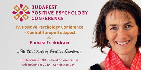 Positive Psychology Conference Central Europe Budapest tickets