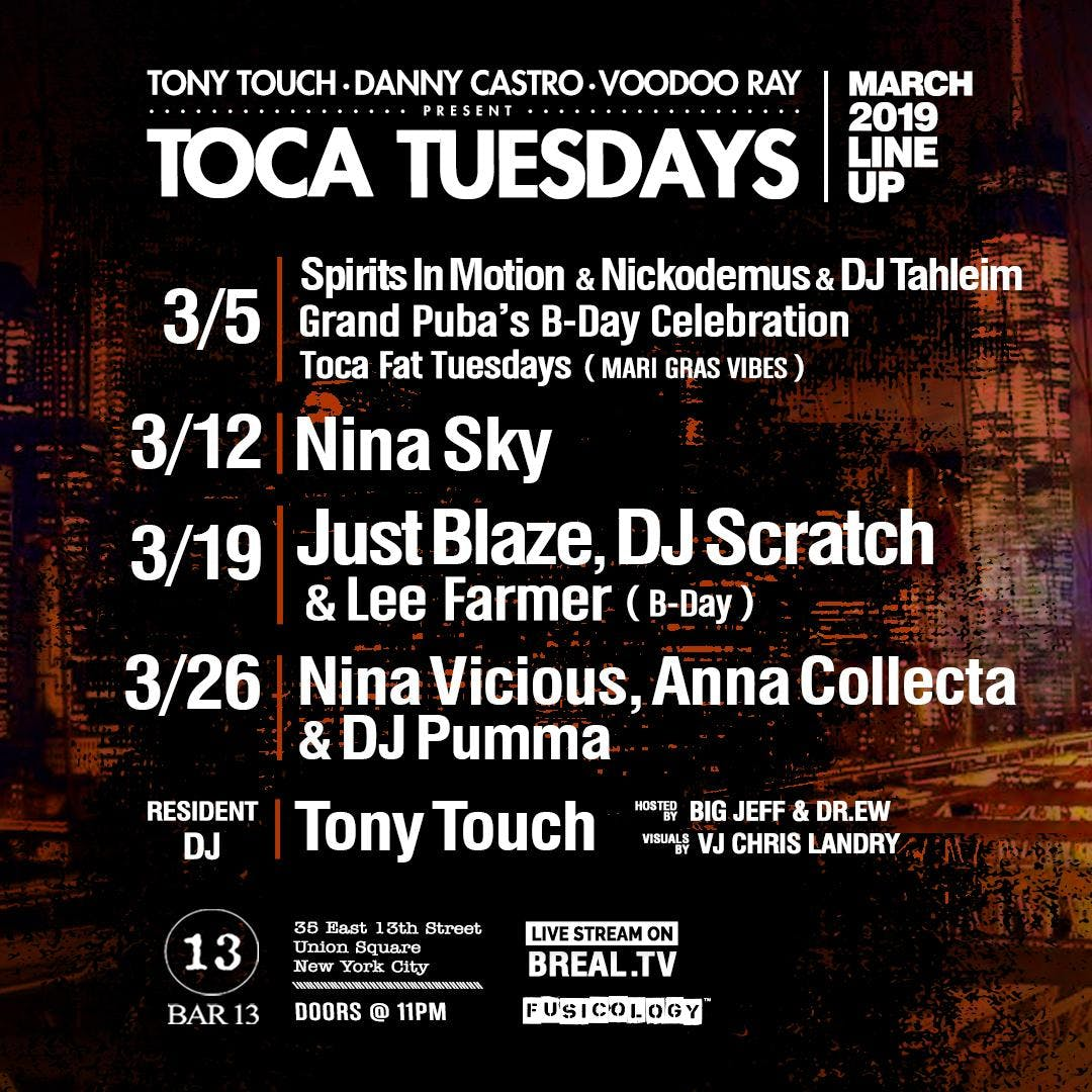 Toca Tuesdays: Women's Celebration Month w/Nina Vicious