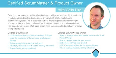 Certified Scrum Master Course [CSM] with Colin Bird tickets