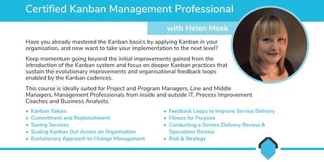 Certified Kanban Management Professional [KMP2] with Helen Meek tickets