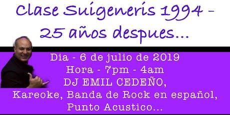 Clase Suigeneris- 25 Años Después tickets