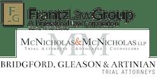 Frantz Law Group, APLC, McNicholas & McNicholas, LLP, Bridgford, Gleason & Artinian logo