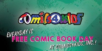 SHOP Comics4kids INC SIDEWALK SALE AUGUST 17 & 18 BROADWAY STREET WA ANTIQUE ROW 98401