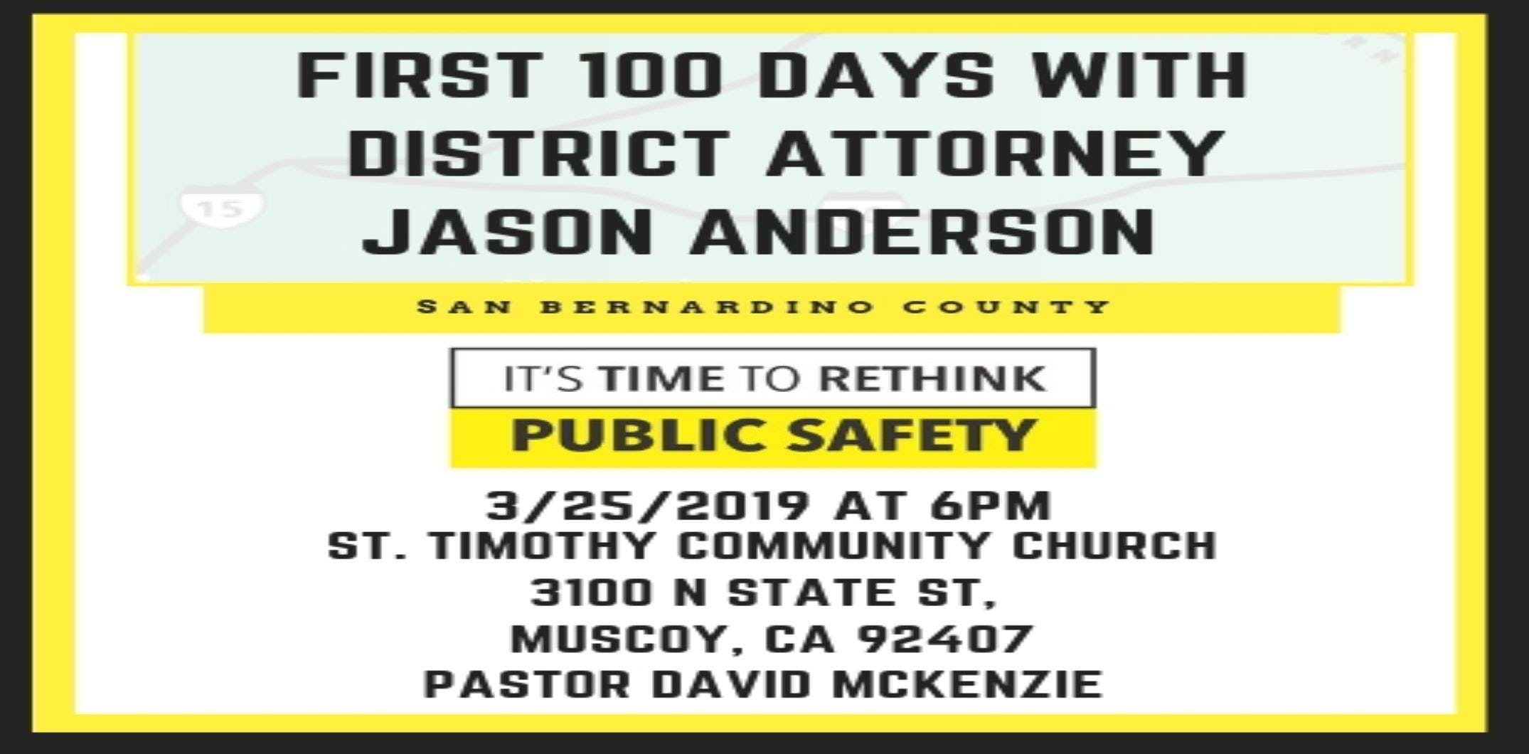 First 100 Days with District Attorney Jason A