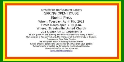 SPRING OPEN HOUSE Streetsville Horticultural Society