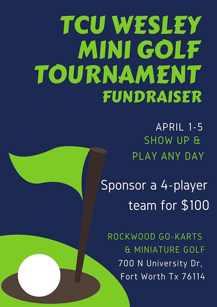 TCU Wesley Mini Golf Tournament Fundraiser image