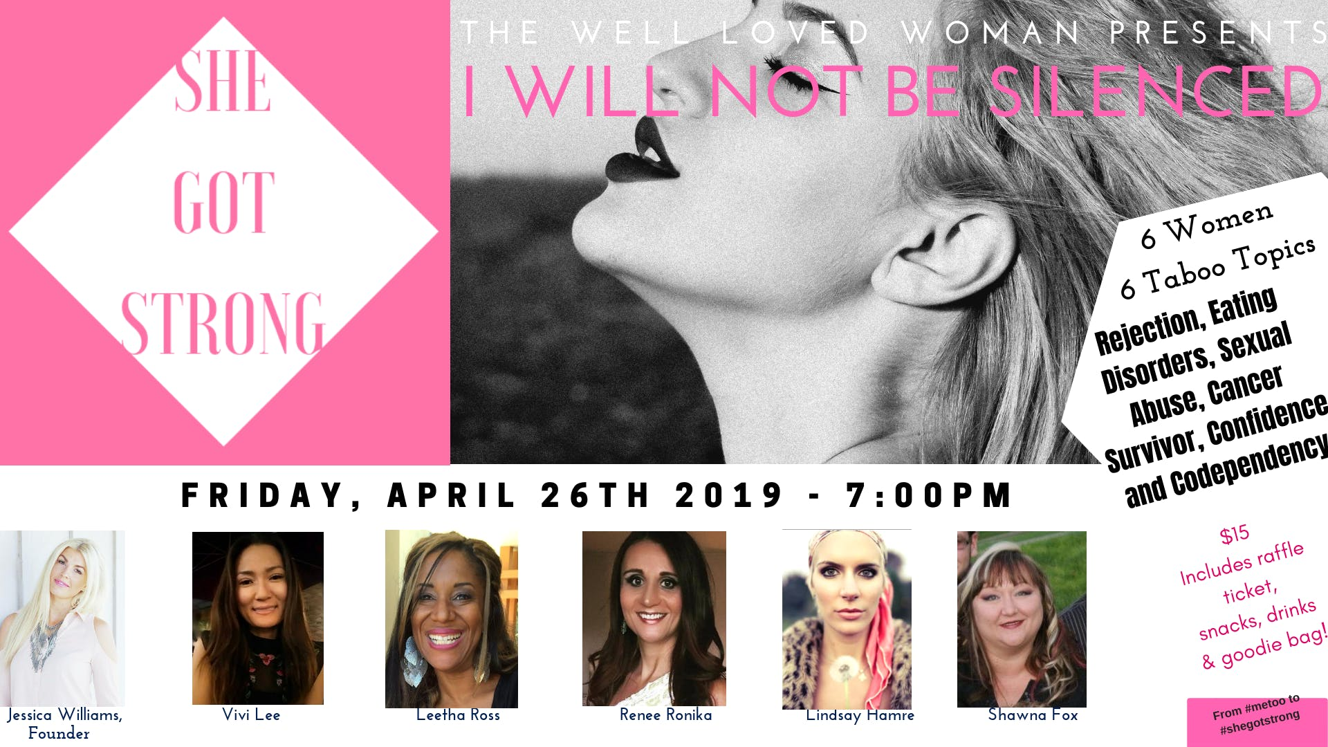 She Got Strong Women's Event: I Will Not Be Silenced