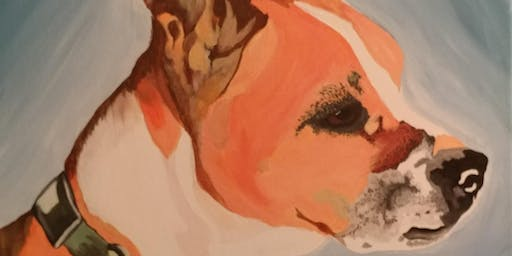 Learn To Paint A Portrait Of Your Pet with Creatively Carrie