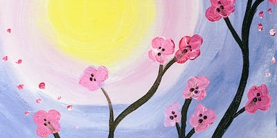 Cherry Blossom Canvas Paint &Sip Eagles Rest Cellars