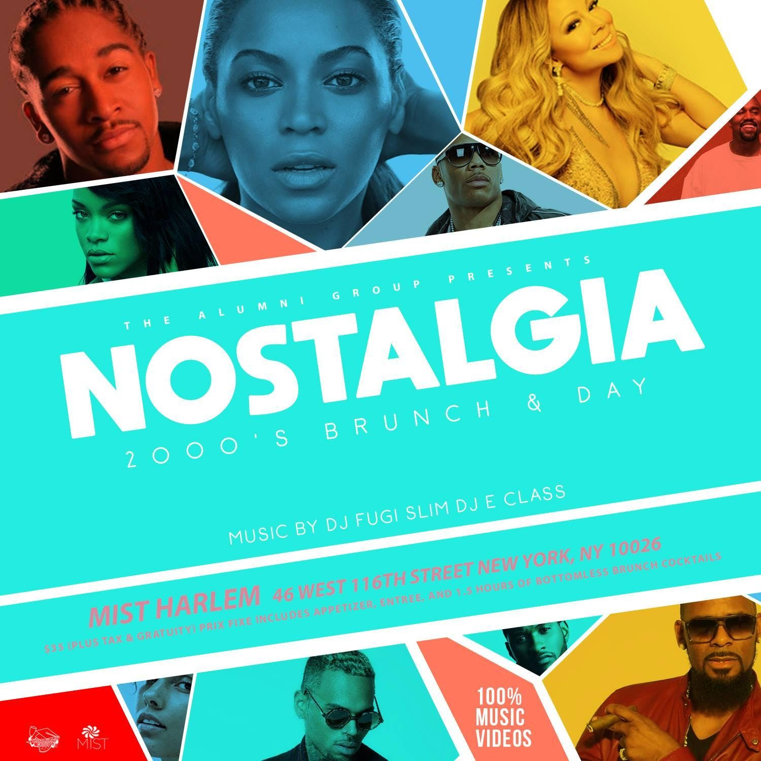 Nostalgia The 2000s Bottomless Brunch & Day Party