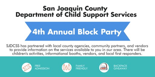 SJC DCSS 4th Annual Block Party - Agency, Food Truck and First Responders