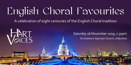 English Choral Favourites - A Hart Voices Concert tickets