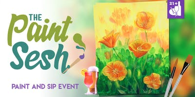 "Paint and Sip in Riverside, CA – ""California Poppies"""