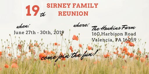 Sirney Family Reunion