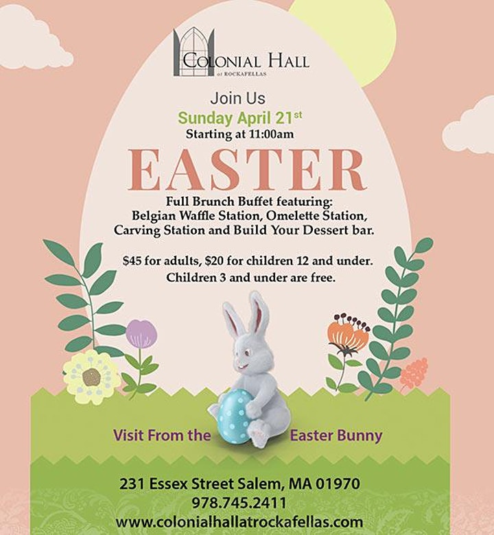 Easter Brunch Buffet at Colonial Hall at Rockafellas image