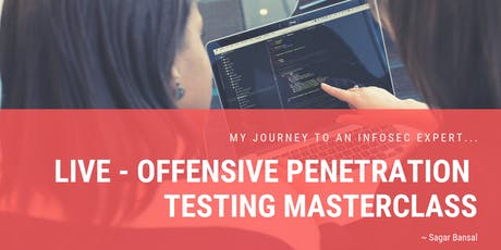 Live - Offensive Penetration Testing MasterClass tickets
