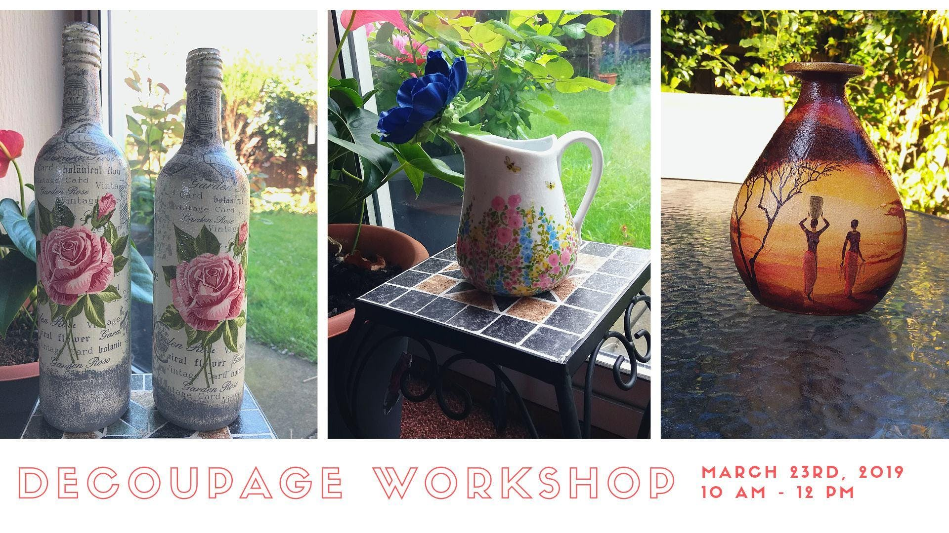 Decoupage workshop with Krafateria