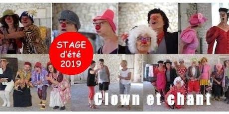 Stage d'été « Clown et chant » en Dordogne (août 2019) billets