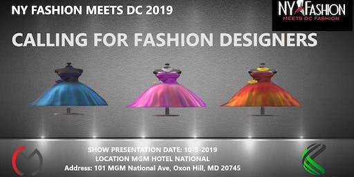 FASHION DESIGNERS Registration for NY Fashion Meets DC 2020