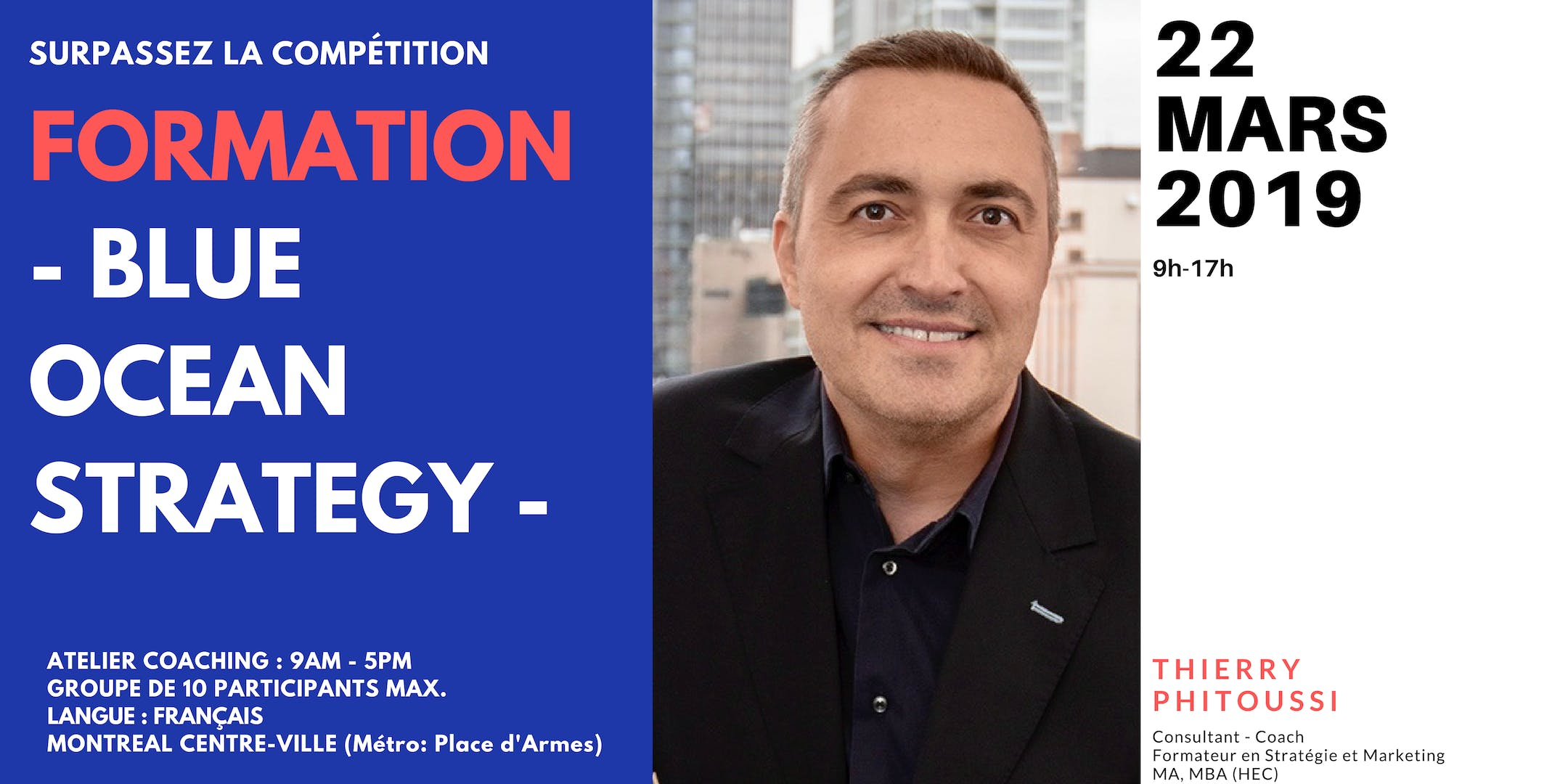 "Formation marketing ""Stratégie Océan Bleu. Su"