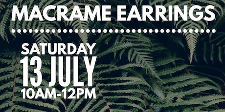 Macrame Earrings Workshop tickets