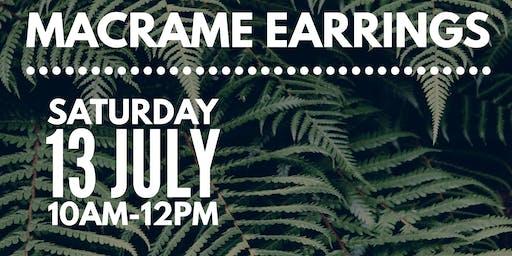 Macrame Earrings Workshop