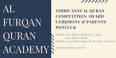 Al Furqan Quran Academy Quran Award Ceremony | Potluck