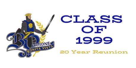 Bonita Vista High School Class of 1999- 20 year Reunion tickets