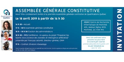 Assemblée générale / Qualifications Québec / Inscription Membres